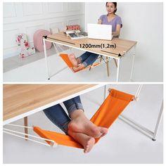 2 Colors Fuut Desk Feet Hammock Desk Foot Cot Bed Office Home Footrest Tools