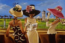 "trishbiddle.com ""What Are the Odds""  official art of the 20008 Kentucky Oaks"