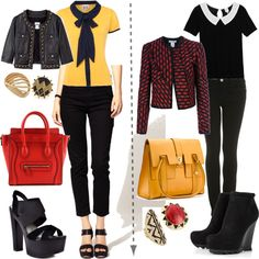 A fashion look from February 2012 featuring Therapy blouses, Monki blouses and Oscar de la Renta jackets. Browse and shop related looks.