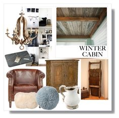 """Winter Cabin"" by beekasam ❤ liked on Polyvore featuring interior, interiors, interior design, home, home decor, interior decorating, Pure Lana and Bloomingville"