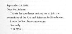 """Real correspondence from real authors, all saying """"no."""""""