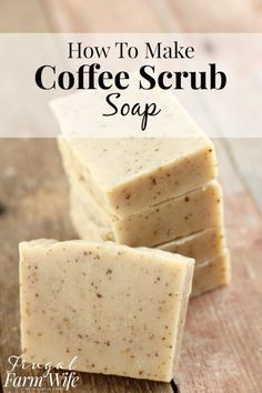 This coffee scrub soap recipe is so easy to make! and the soap itself is so invigorating, and makes my skin feel so soft! #homemadesoap
