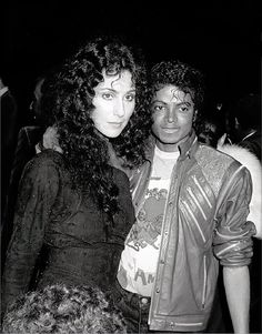 Michael Jackson and Cher (with most of their original faces)