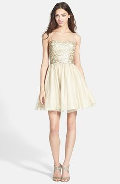 Aidan Mattox Embellished Tulle Fit & Flare Dress | Nordstrom
