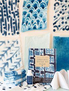 #DIY indigo textile kits from Yellow Owl Workshop: http://ohsobeautifulpaper.com/2015/01/quick-pick-yellow-owl-workshop-diy-indigo-textile-kits/