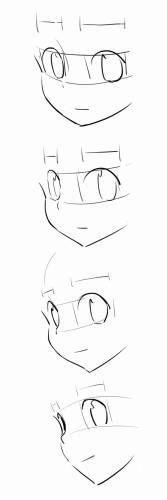 a face dimension Manga Drawing Tutorials, Manga Tutorial, Drawing Techniques, Drawing Tips, Art Tutorials, Anime Drawings Sketches, Anime Sketch, Easy Drawings, Body Drawing