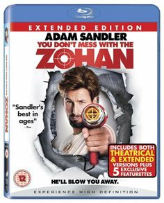 You Don't Mess with the Zohan [Blu-ray] [2008] [2009][Region Free] Blu-ray ~ Adam Sandler, http://www.amazon.co.uk/dp/B001IZZ2P4/ref=cm_sw_r_pi_dp_BgRsrb021GFGQ