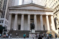 Federal Hall, Wall Street - New York Pictures Financial Inspiration #jcrew #MyShoeStory