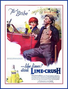1921 May 26, LIFE -  'Ward's Lime-Crush', 'The Bribe'  one of a series by Norman Rockwell for ORANGE-CRUSH Co.