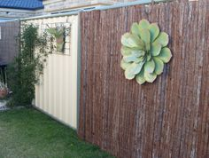 Hang heavy devices, vines, screen fencing easily with this no drill solution for Colorbond© / Steel fencing.  More info at www.biggreenleaf.com.au Fence, Drill, Vines, New Homes, Yard, Vertical Gardens, Steel, Garden Ideas, Plants