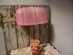 Shabby Chic Vintage Pink Headboard Reading by trufflepigtreasures, $10.00