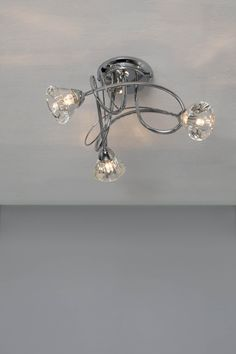 Marianne 3 Light Flush, Chrome | BHS