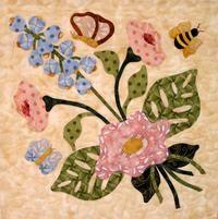 Pereira Designs - modern primitive quilt ideas, love the blue flowers Wool Applique Patterns, Applique Templates, Hand Applique, Quilt Block Patterns, Applique Quilts, Applique Designs, Quilt Blocks, Embroidery Applique, Quilting Projects