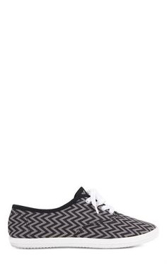 Deb Shops #Chevron Print Low Top #Sneaker $10.50
