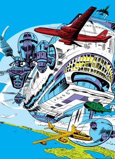 Classic SHIELD Helicarrier (textless)