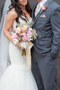 Stunning pink bridal bouquet
