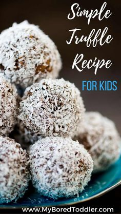 simple truffle recipe kids can make. This easy recipe for truffles is so simple that even toddlers and preschoolers can be involved in the baking process. If you are looking for a great recipe to bake with kids for Christmas then this simple truffle recipe is perfect.