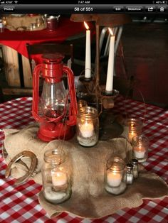 Western party table scape - tamera event design