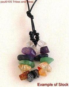 diy chakra charms | Pendant Chakra Crystals Loop Necklace Balancing Pagan Spiritual ...