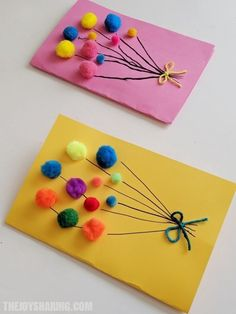 Pom Pom Balloons Birthday Card, on balloon birthdaycard birthdays birthday . Pom Pom Balloons Birthday Card, on balloon birthdaycard geburtstags geburtstagskarte balloon balloons birthday birthdaycard birthdays Card diybeauty diyclothes diycrafts Homemade Birthday Cards, Kids Birthday Cards, Diy Birthday, Rainbow Birthday, Baby Birthday Card, Daycare Crafts, Preschool Crafts, Fun Crafts, Card Crafts