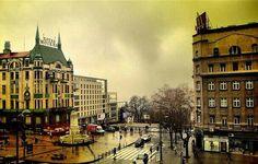 Beograd, Srbija. Terazije. Hotel Moskva. Belgrade, Serbia. Terazije sqare. Hotel Moscow.