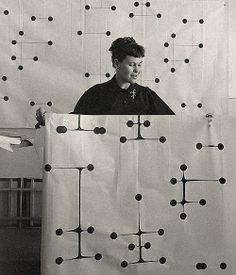 Ray Eames. Dot Pattern Fabric. @Deidra Brocké Wallace