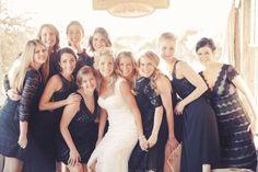 black lace + different styles // wedding bridesmaids dresses