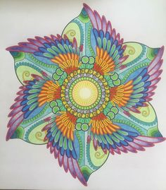 Mandala klaar Mandala Doodle, Mandala Art, Doodle Art, Watercolor Mandala, Dot Painting, Stone Painting, Mandala Design, Quilt Material, Pink Wall Art