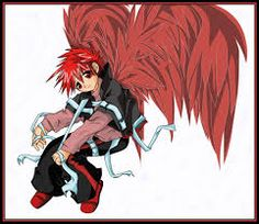 omg his red wings dn angels Wings, Red, Anime, Singers, Cartoon Movies, Anime Music, Feathers, Feather, Animation