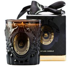 Cause Celebre Perfumed Candle by PANPURI. Really like the glass container and its resemblance to a perfume bottle. The link between the perfume aspect and the reproduction of it into a candle is strong. Really high quality product and packaging example. Candle Packaging, Candle Labels, Packaging Ideas, Packaging Design, Clever Packaging, Candle Diffuser, Aroma Diffuser, Soy Candles, Scented Candles