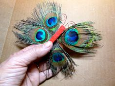 Make it easy crafts: Peacock feather butterfly ornament