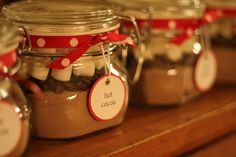 hot chocolate in a jar gift idea