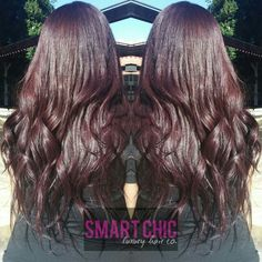 Brazilian Virgin Luxe Body Wave hair extensions from Smart Chic Luxury Hair Co. Custom colored with Pravana Vivids Wild Orchid and Pravana Violet