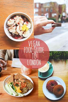 I share my vegan food guide to London. Featuring 7 of my favorite vegan restaurants and cafes, plus recommendations for my favorite vegan dishes. London Vegan, London Food, Vegan Bakery London, London Eats, Vegan Dishes, Vegan Food, Raw Vegan, Essen In London, Essen To Go