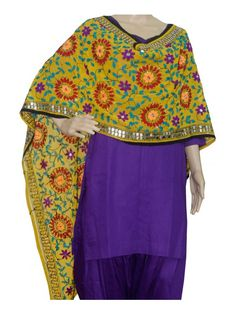 Super Georgette Stole Handembroidery SuperGeorgette Stole with Traditional Embroidery Work  Stole Length 2.25 Meter, Width 0.5 Meter  Wash Care Dry Clean Shop Now : http://www.jankiphulkari.com/yellow-super-georgette-stole-jsgs1222