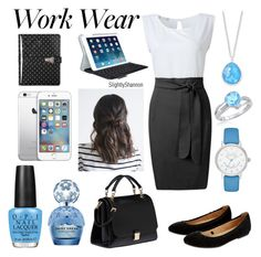 """Work Wear"" by slightlyshannon ❤ liked on Polyvore featuring Amanda Rose Collection, Accessorize, Miu Miu, Kate Spade, Ippolita, Marc Jacobs, OPI, Logitech, Dolce&Gabbana and WorkWear"