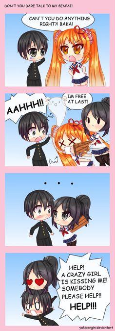 DON'T YOU DARE TALK TO MY SENPAI! by Yukipengin