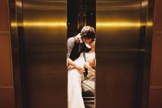 """elevator shot @Tina Harle this is what I was imagining!""  Krista & Joes Wedding Photo Idea"