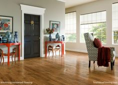 Like the Wall and door color with our floor  Hickory - Clover Honey