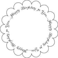 Free Printable Birthday Sentiments: Free Printable Birthday Sentiments - Round Scallop 1