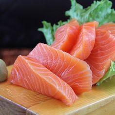 You can find Sushi aesthetic and more on our website. Whole30 Fish Recipes, Sushi Recipes, Salmon Recipes, Seafood Recipes, Healthy Recipes, Recipes Dinner, Sashimi Sushi, Salmon Sashimi, Fish Snacks