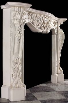 Antique Marble French fireplace Mantel | California | New York