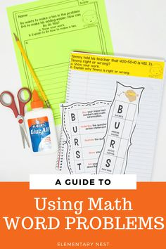 Learn more about teaching word problem strategies to help your and grade students solve word problems in their common core mathematics unit. Teaching Measurement, Teaching Math, Teaching Ideas, Teaching Second Grade, Second Grade Math, Subtraction Activities, Math Activities, Teaching Place Values, Teaching Addition
