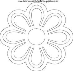 Moldes de Flores! - Fazendo a Minha Festa Flower Patterns, Flower Designs, Giant Paper Flowers, Paper Stars, Flower Template, Mothers Day Crafts, Stencil Painting, Pop Up Cards, Flower Shape