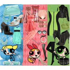 Powerpuff girls inspired looks!