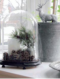 Christmas glass dome
