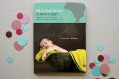 Welcome Home Adoption Birth Announcements by AJCreative