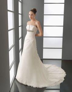 Sweetheart Asymmetry Bodice Flowering Satin Wedding Dress,wedding dresses