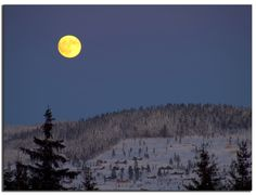 Fullmoon over Trysil in Norway