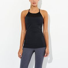 Back to the Mat Bra Tank with Mesh Panel | lucy activewear Work it Out / Wear it Out